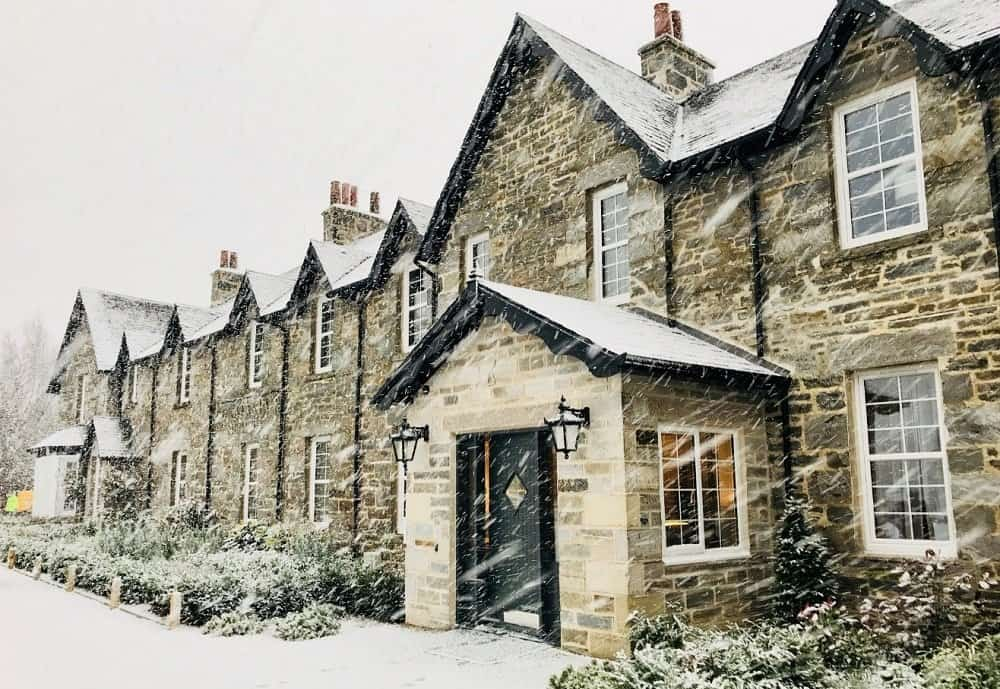 Snow at Dunalastair Hotel
