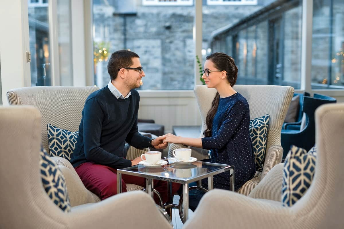 Romantic Couple at Dunalastair Hotel Suites