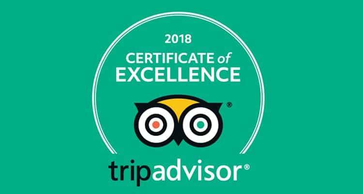 TripAdvisor – Excellence Award 2018