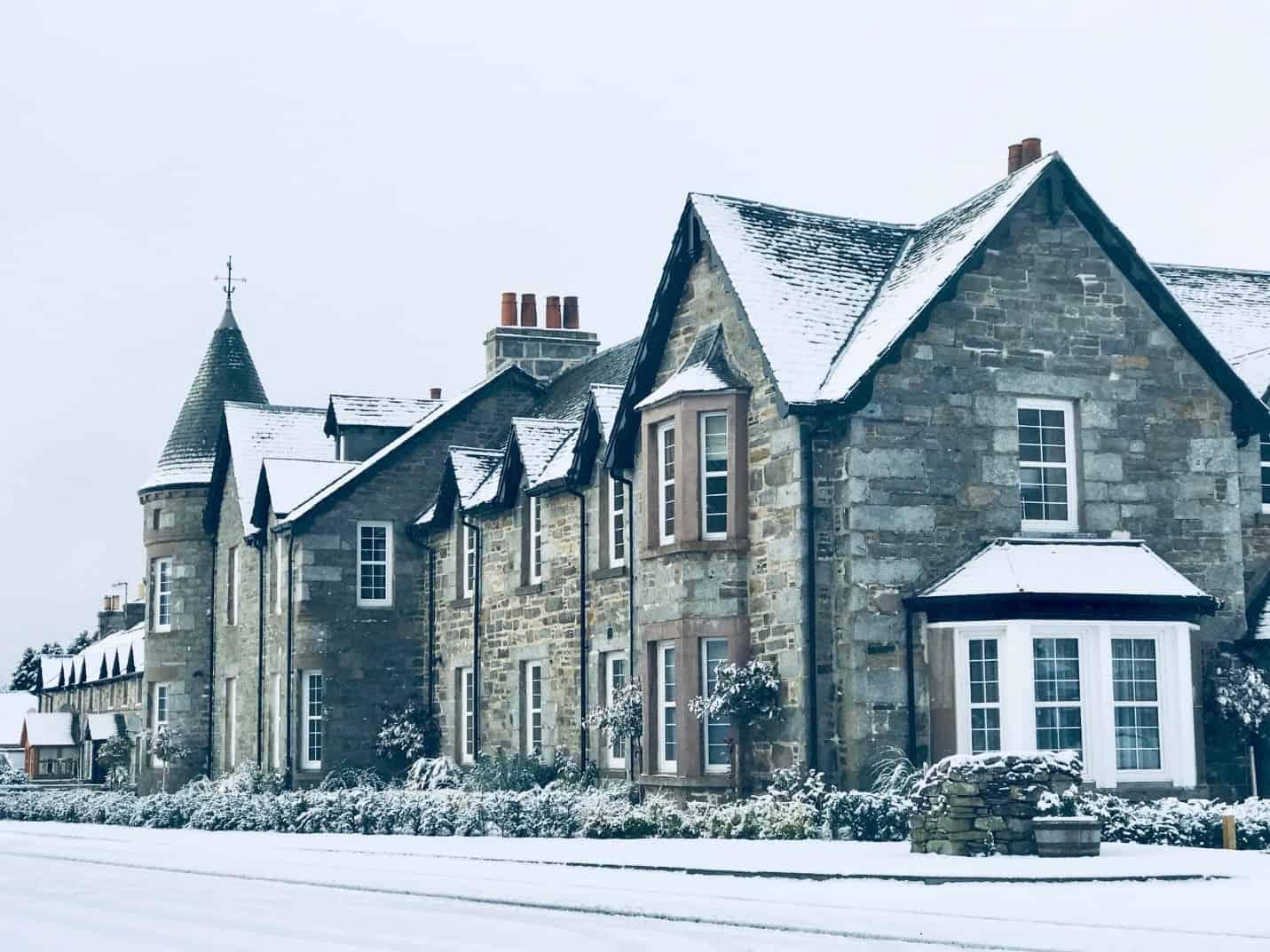 Dunalastair Hotel Suites in winter
