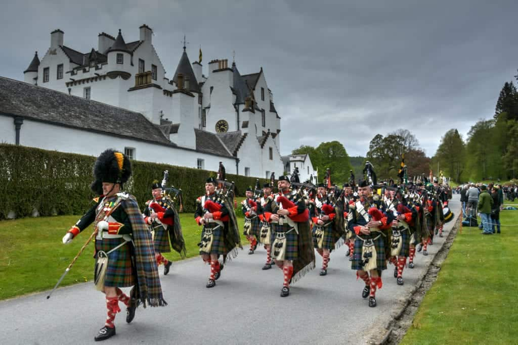 Atholl Highlanders Parade and Gathering