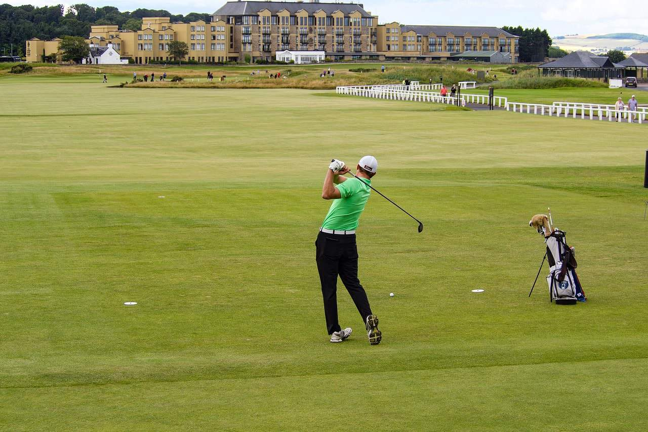 Golf Course in Scottish Highlands