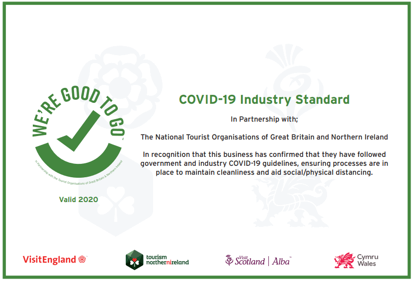 We're Good To Go certificate