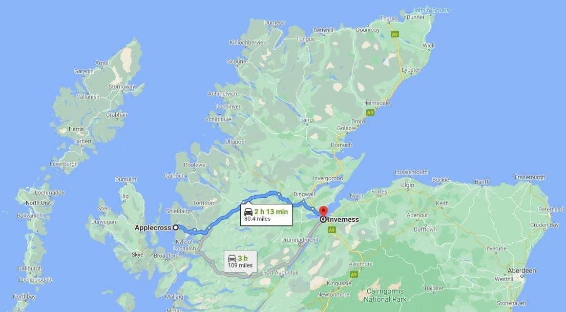 Applecross to Inverness