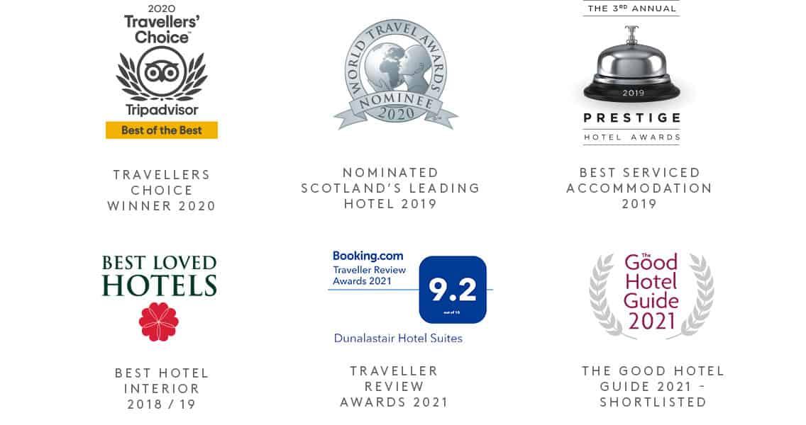 Dunalastair Hotel Suites Awards
